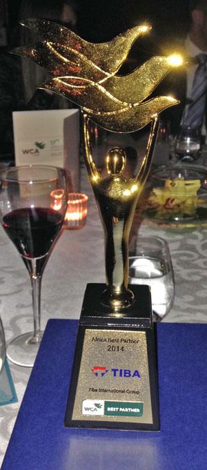 Premio al mejor agente en Africa por la WCA