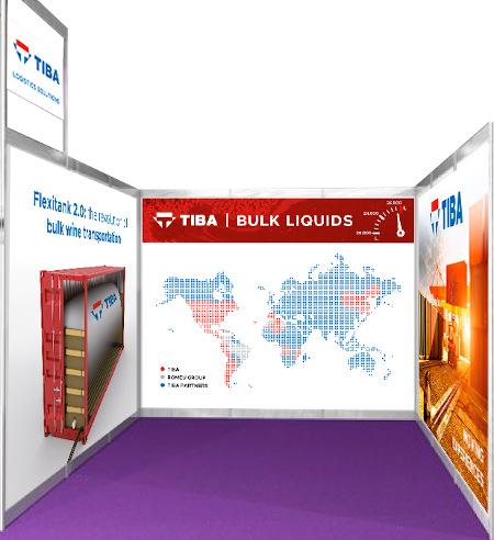 World Bulk Wine Exhibition stand TIBA
