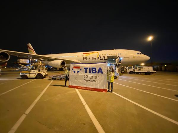 Transporte aéreo de material sanitario